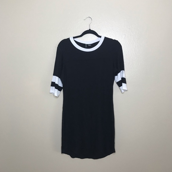 no comment Dresses & Skirts - No Comment Black with White Stripes Dress
